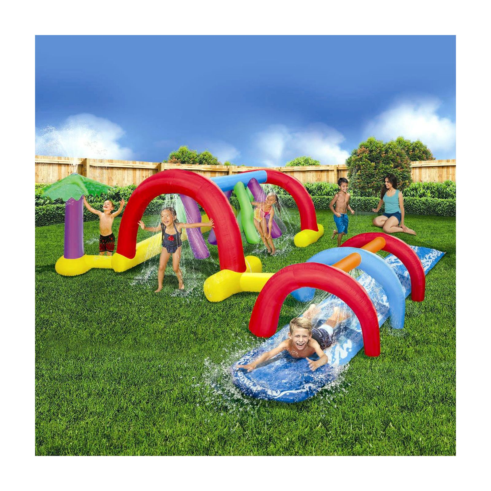Ultimate Inflatable Backyard Water Park the banzai backyard adventure water park is the ultimate backyard