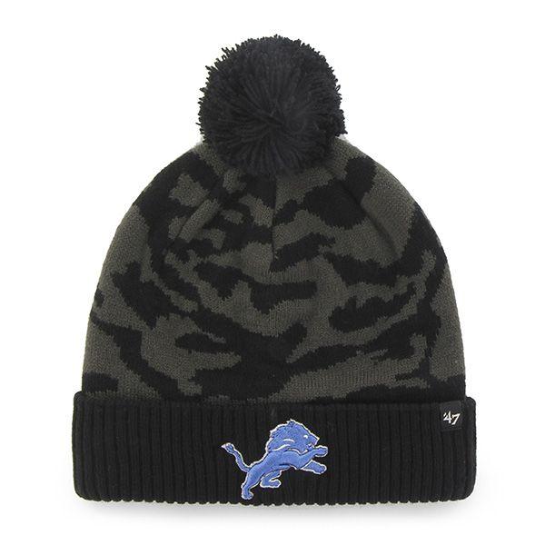 587afdfbe1d Detroit Lions M Twenty Nine Cuff Knit Charcoal 47 Brand Hat ...