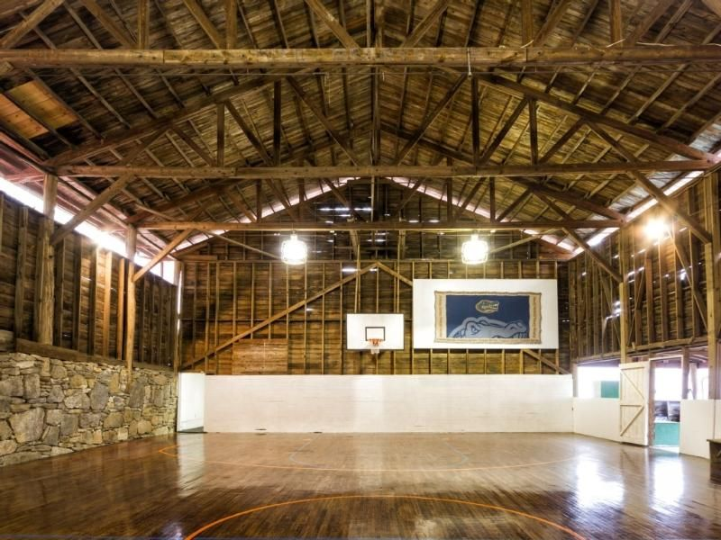 Take Advantage Of This Indoor Basketball Court During The Winter Months At This Vacation Rental I House Rental North Carolina Vacation Rentals Pool Water Slide