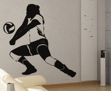 Volleyball Player  UBer Decals Wall Decal Vinyl Decor Art - Vinyl volleyball wall decals
