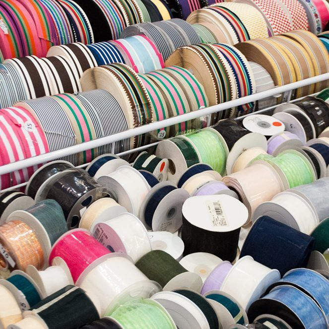 Now is THE time to stock up on our gorgeous striped grosgrain ribbon! Our Warehouse Clearance Sale is going on now! Grab these great deals while they last! #NYC #garmentdistrict #DIY #crafty #artsandcrafts #artsupplies #fashion #stripes #ribbon #trim
