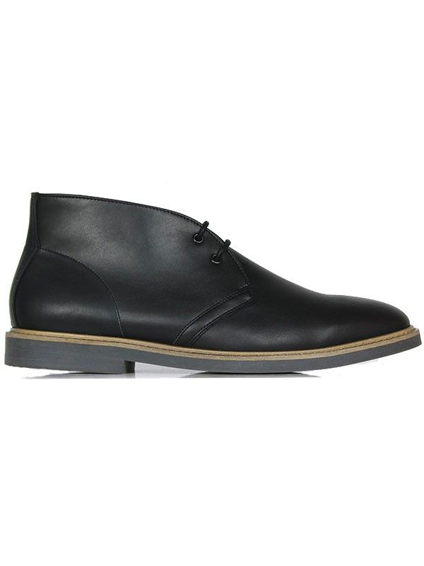 ce0b2f603ad9 Mens vegan Signature wide fit desert boots in black by Wills London ...