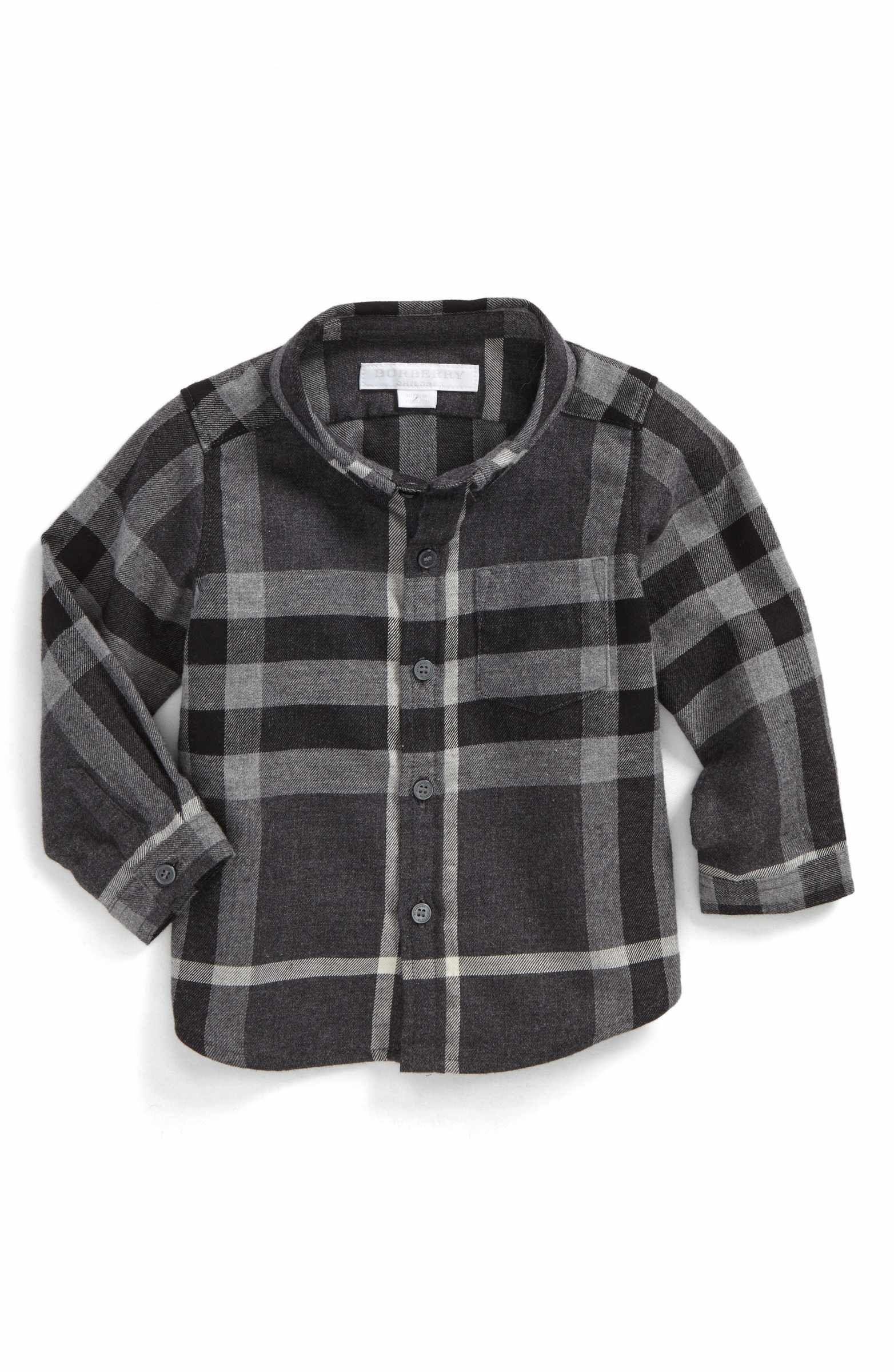 2293308bf Main Image - Burberry Mini Fred Check Woven Shirt (Baby Boys ...