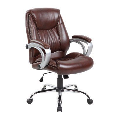 united chair industries ergonomic mid back office chair brown hn