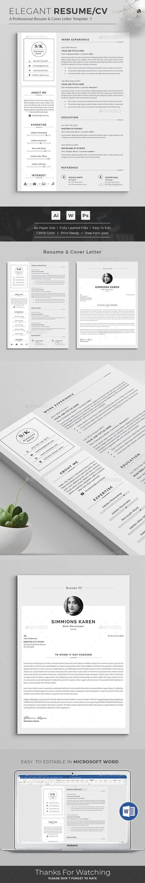 Resume Resume template word, Clean resume template