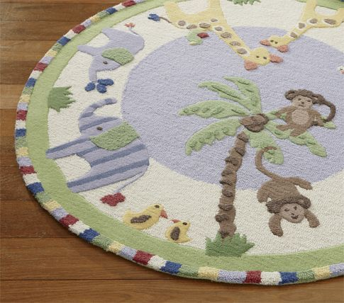 Jungle Friends Rug By Pottery Barn