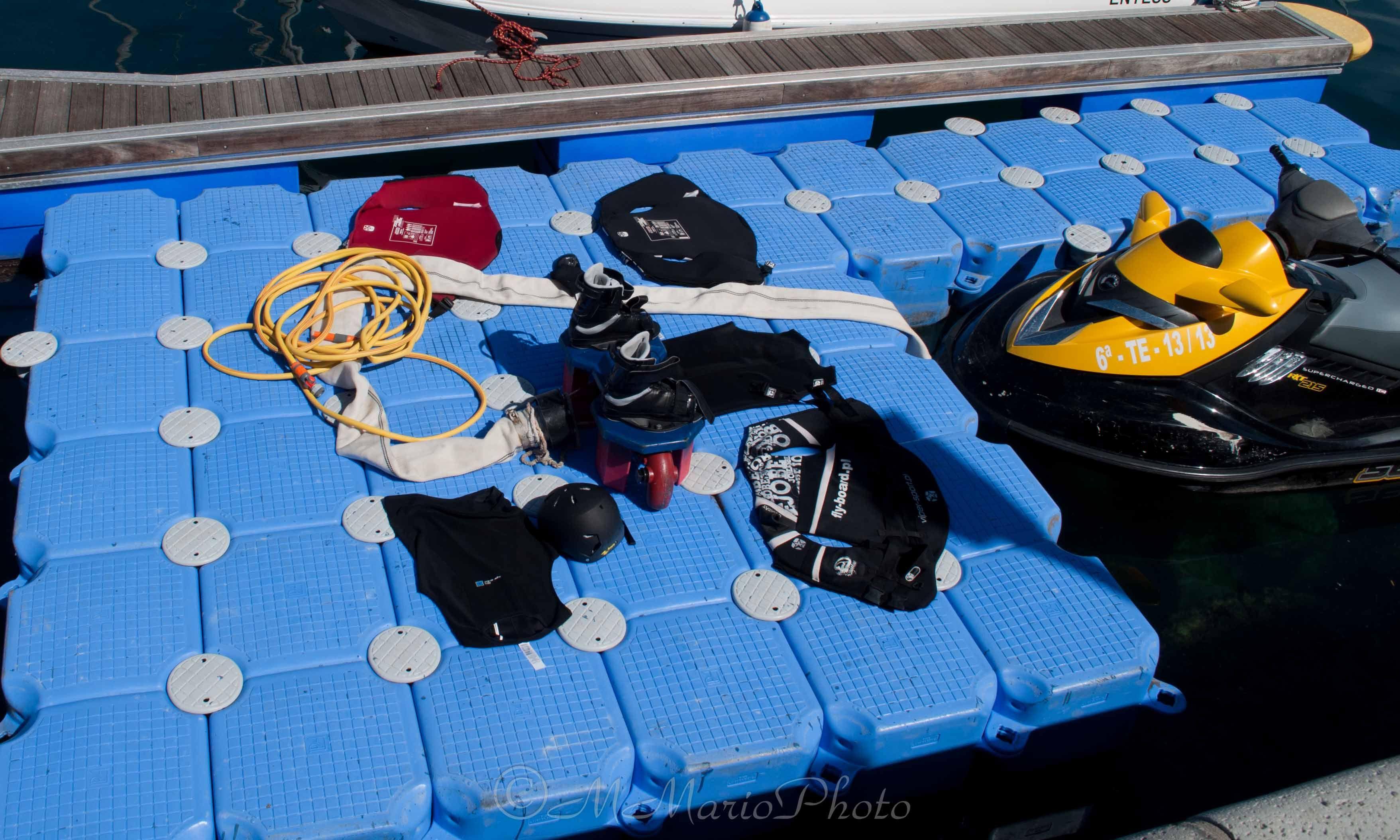 Equipamiento de #Flyboard en @Marina del Sur Tenerife - Puerto deportivo #LasGalletas #Arona #Tenerife -