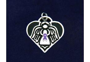 C-29-4EP Wholesale Epilepsy Purple Ribbon Charms 25 Charms