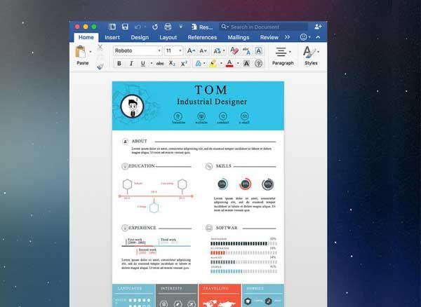 resume mate mac   200 mod u00e8les de cv pour word et pages