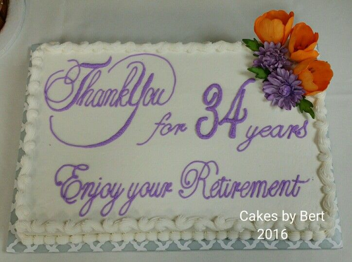 Retirement Sheet Cake With Images Retirement Party Cakes