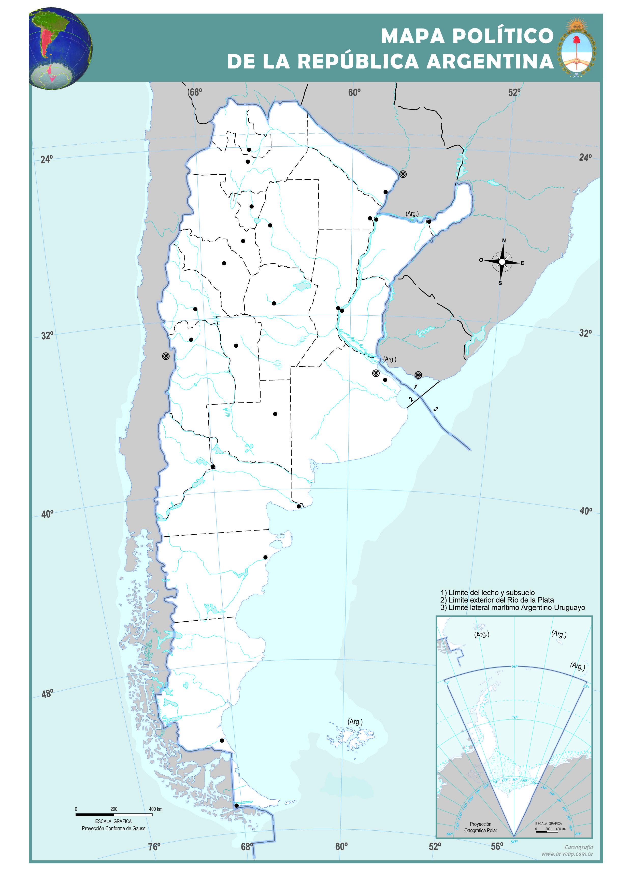 Resultado De Imagen Para Mapa Numero3 Politico De Argentina