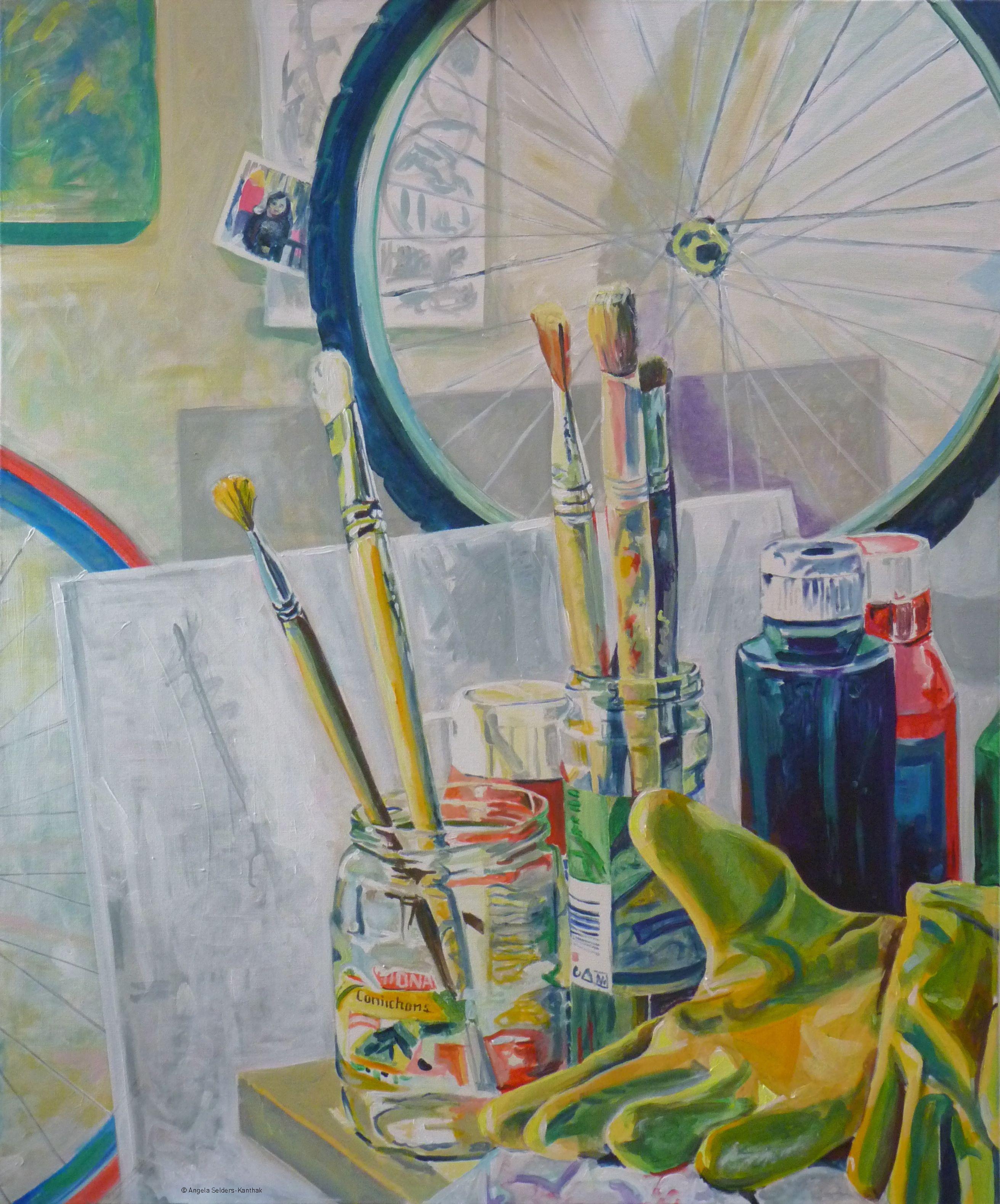 Werkstatt | Acryl auf Leinwand  100 x 120 cm | 2011