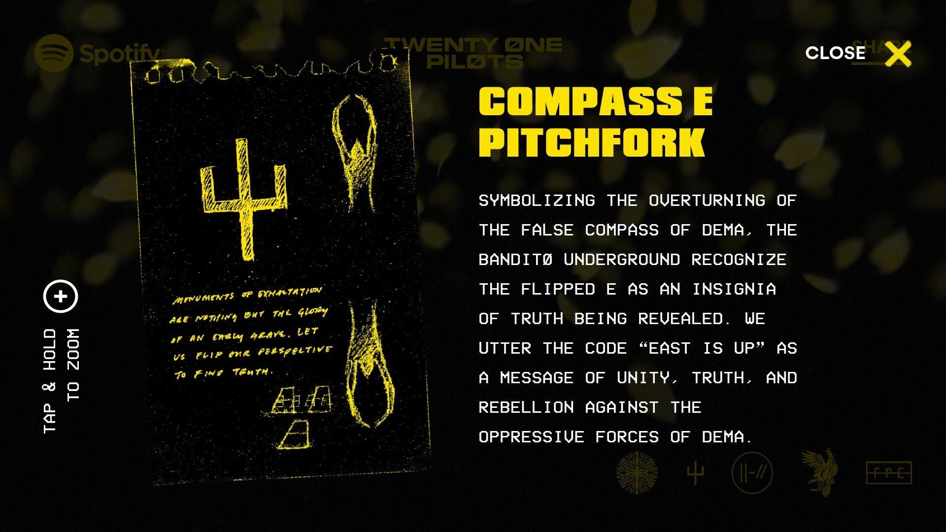 Bandito Badge Compass E Pitchfork Top Bandito Twenty On Pilots Twenty One Pilots Twenty One