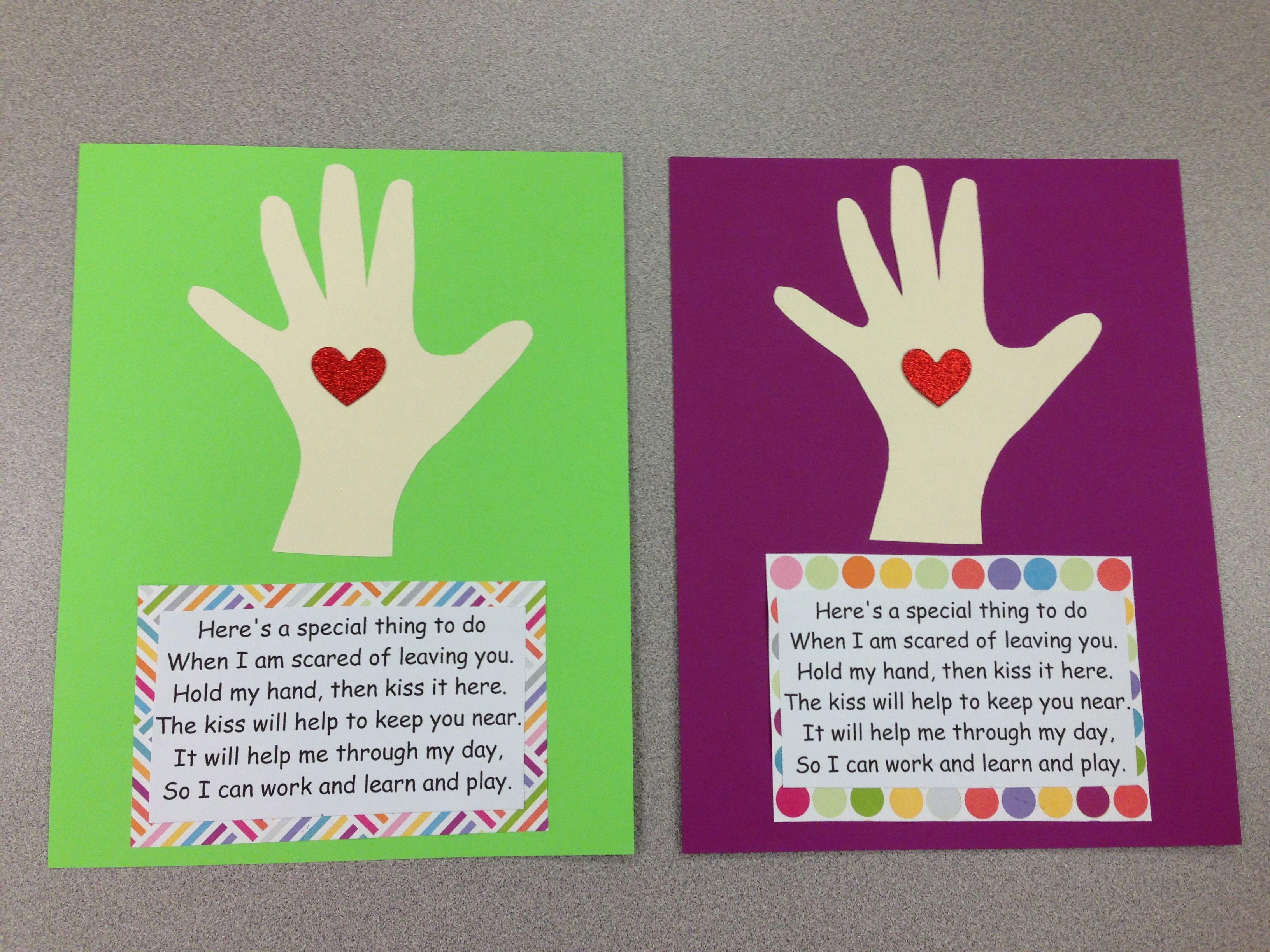 The Kissing Hand Craft Letsgetreadyforkindergarten