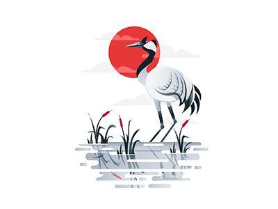 Crane Bird   by Anuja Kanani