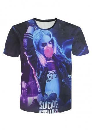 Harley Quinn Printed Plus Size T-Shirt