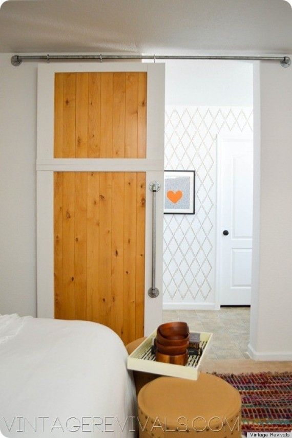 Can You Guess The Diy In This Room Diy Barn Door Diy Sliding
