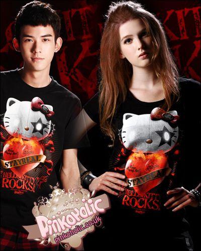 Hello Kitty x Stay Real t-shirt - 7 patterns [PHC5989] - £14.00 : Pinkoholic, Asian Fashion Gateway