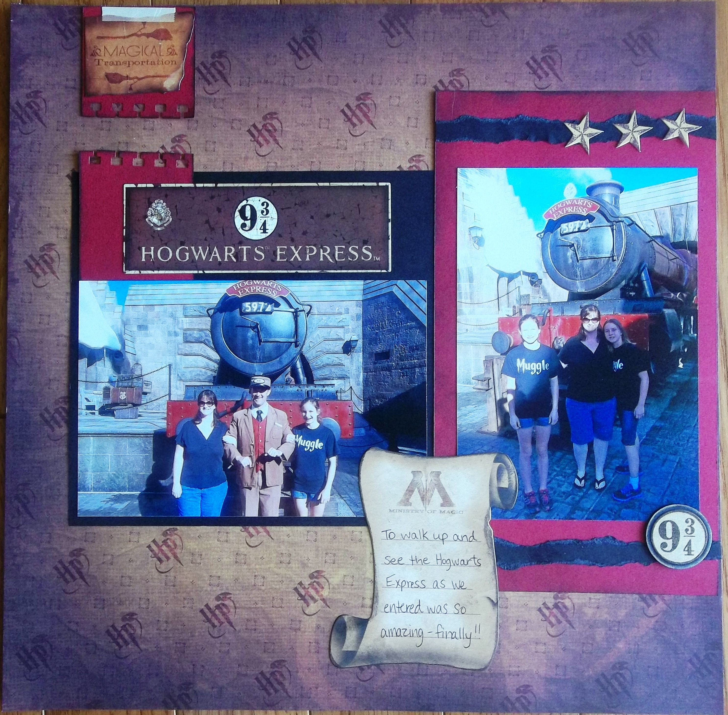 Scrapbook ideas adventure - Harry Potter Hogwarts Express Universal Studios Islands Of Adventure Scrapbook Com