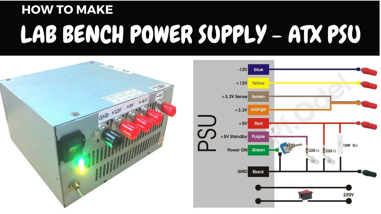 DIY Lab Bench Power Supply From ATX PSU