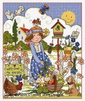 Lesley Teare Designs - Folk Art Garden (cross stitch chart)