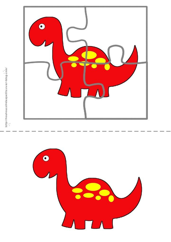 puzzle quot le dinosaure quot cards dinosaur puzzles puzzles for toddlers und learning