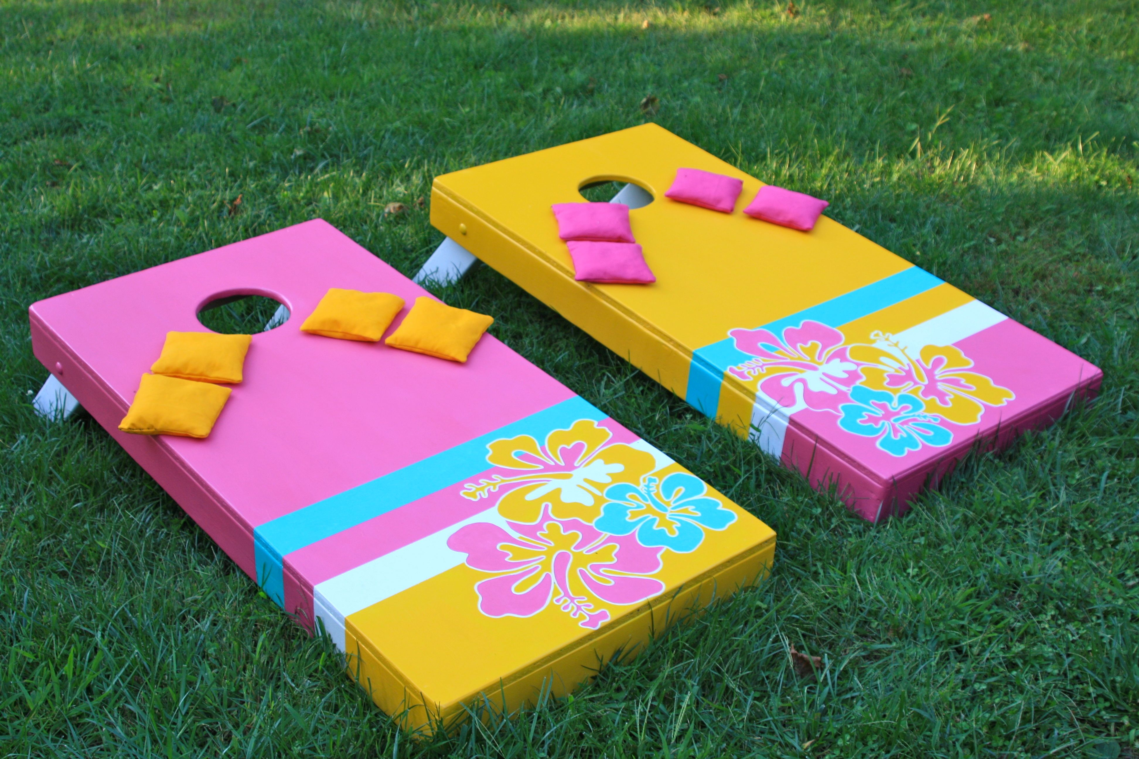 hawaiian themed corn hole set 84 3 designs finished projects