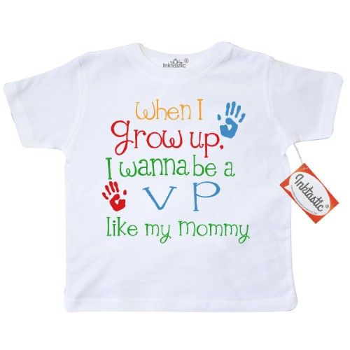 8267cc5d3 Inktastic VP Like Mommy Toddler T-Shirt Child's Kids Baby Gift Vp's  Daughter Childs My Cute Occupation Apparel Job Future Handprints Tees.