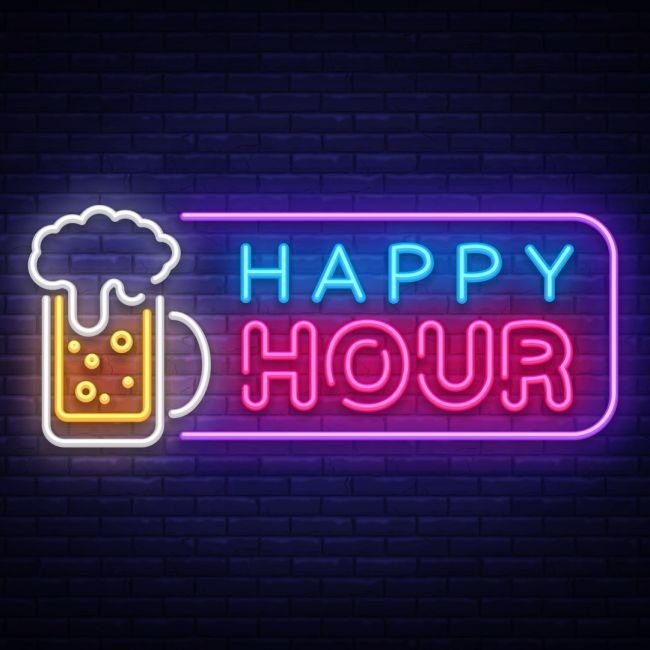 Happy Hour Beer Bar Led Neon Sign Neon Signs Neon Happy Hour Beer