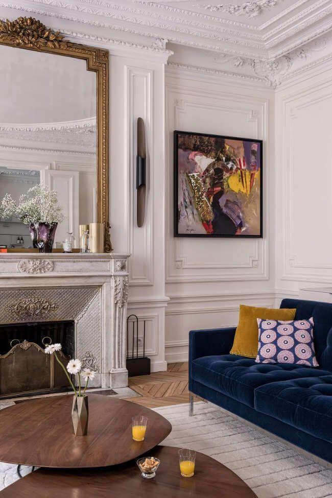 outstanding modern eclectic living room | Great eclectic mix of ornate and mid century. #livingroom ...