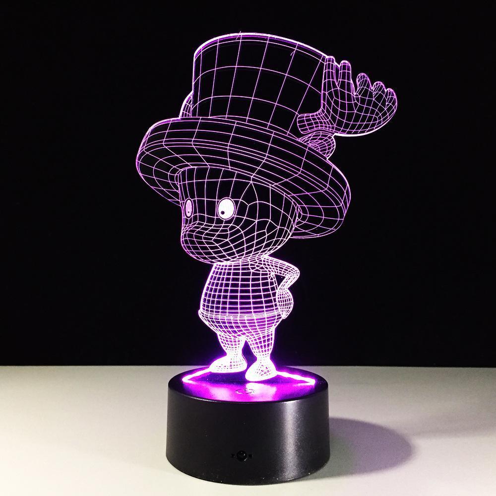 One piece tony chopper 3d illusion led lamp comic anime