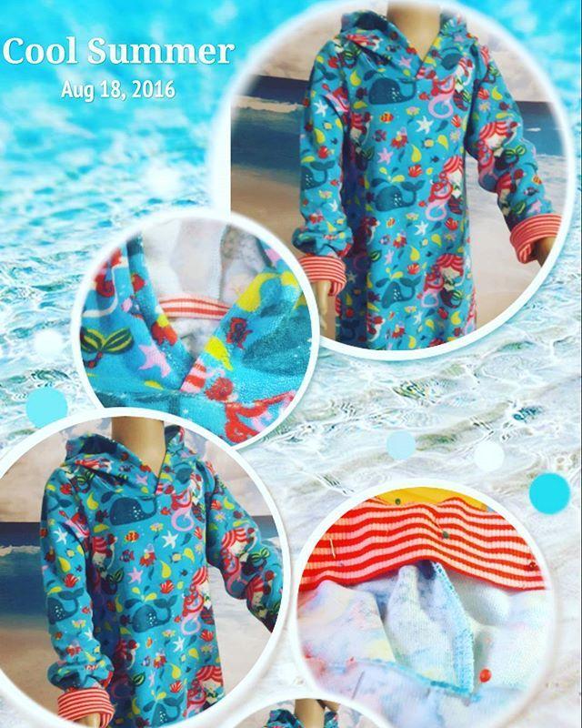 Einen wunderschönen guten Morgen Ihr Lieben 🌞  Ein süsses gemütliches Frottee Strandkleid macht sich auf Reise zu einer kleinen meeresliebenden Dame  #nähenistmeinyoga #nähenistwiezaubernkönnen #juki #bernina @klimperklein @allesfuerselbermacher #strandkleid #tunika #gemütlichkeit #maritim #nixe #sewingforkids #girls #daslebenistbunt @siniju.de