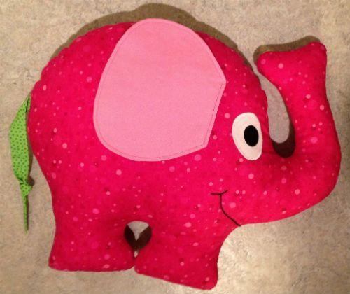 Stoffelefant mit Schnittmuster | Kissen | Pinterest | Elefanten ...