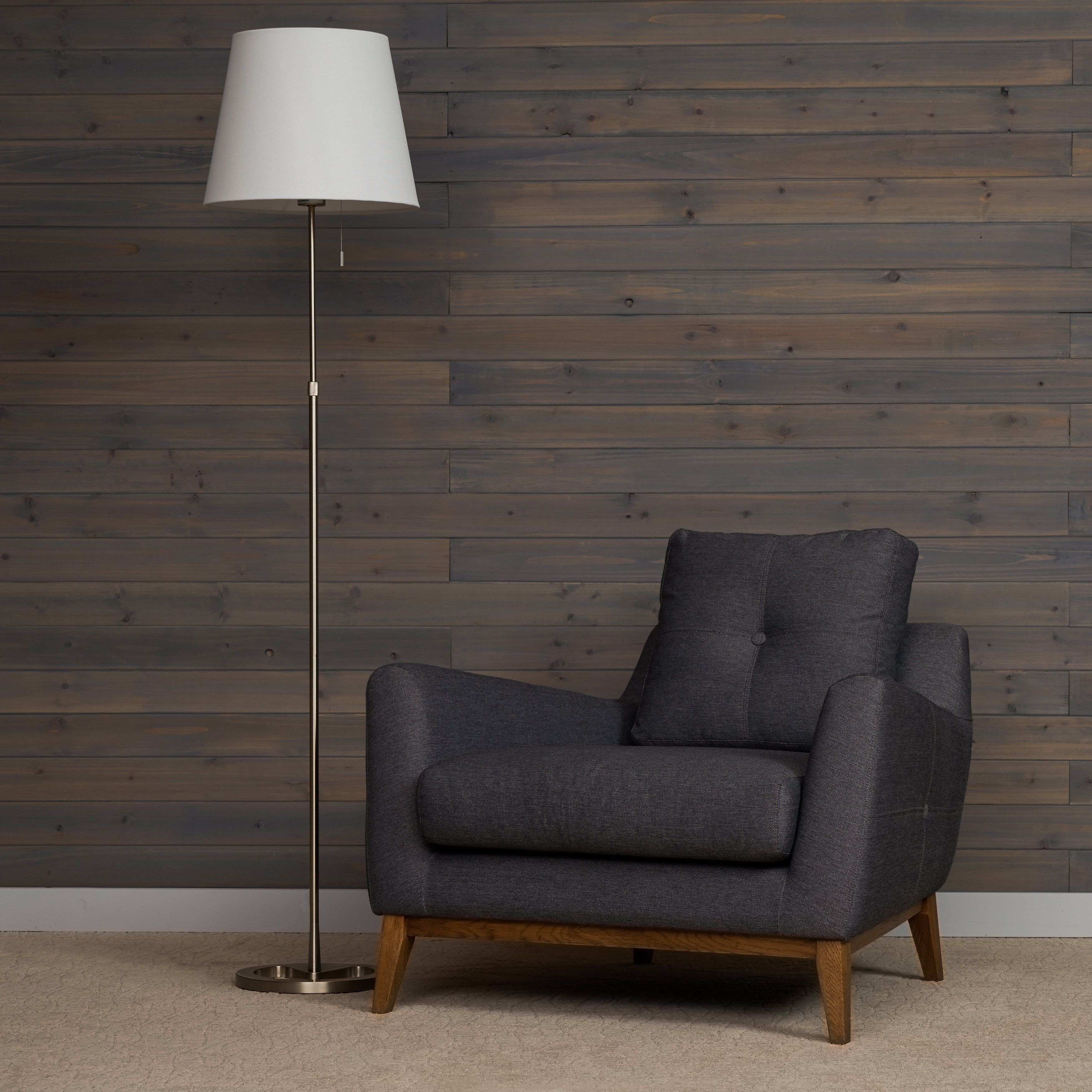 Hundley Mid-Century Modern Arm Chair in Stella Stone by RST Brands (Stella Stone), Brown