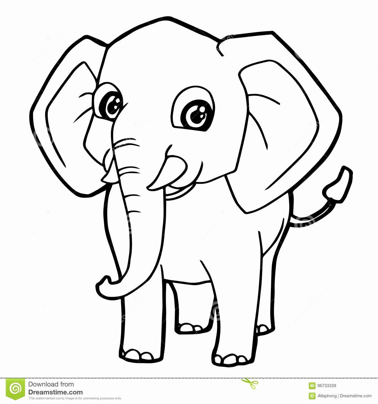 Elephant Cartoon Coloring Pages Unique Cartoon Cute Elephant