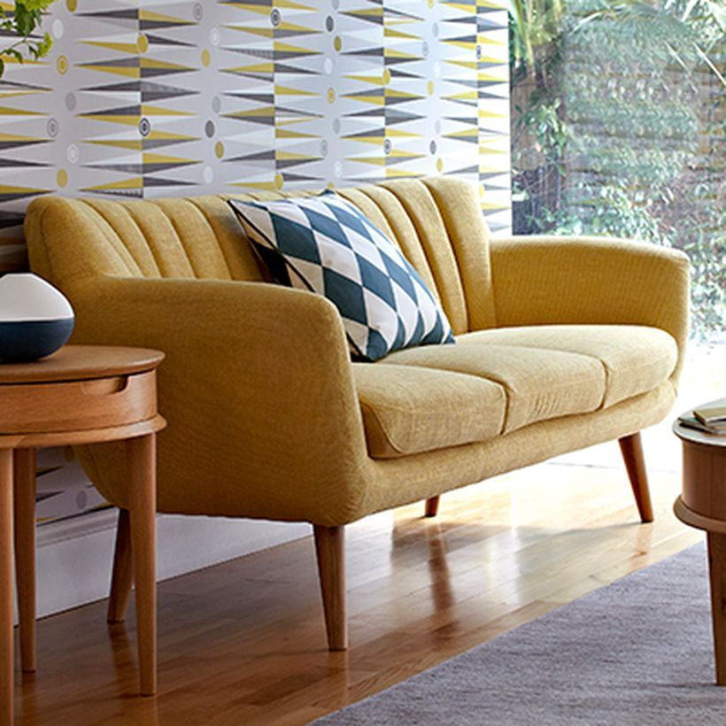 Dreipunkt Designer Leather Sofa Mustard Yellow Two Seat: 150 Inspiring Yellow Sofas To Perfect Living Room Color