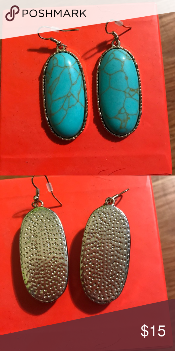 Turquoise earrings Extremely beautiful. Only been worn once. Has some weight to them Jewelry Earrings