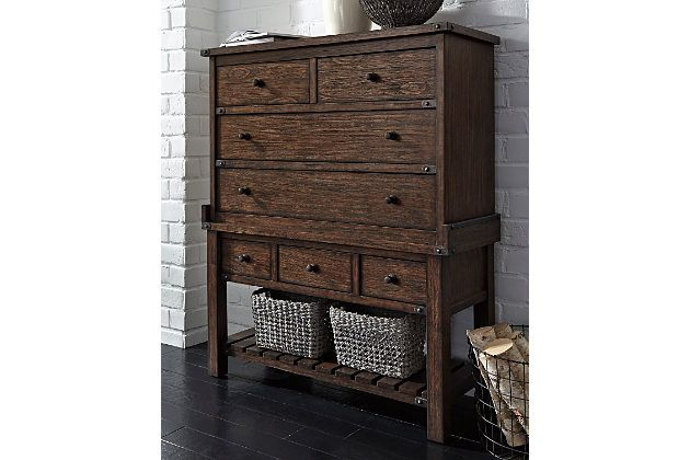Zenfield Chest Is Dressed To Impress In The Bedroom And Well Beyond Among Its Best Features Decorative Storage Baskets Dining Room Storage Decorative Storage