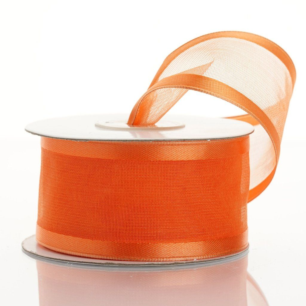 10 Yards 1 5 Coral Orange Wholesale Sheer Organza Wired Ribbon Unique Ribbons Organza Ribbon Coral Orange