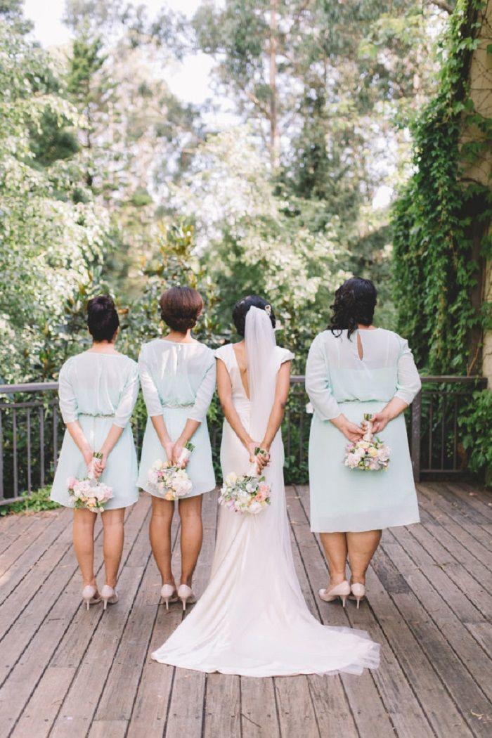 Johanna Johnson wedding dress and mint bridesmaid dresses | itakeyou.co.uk #weddingdress