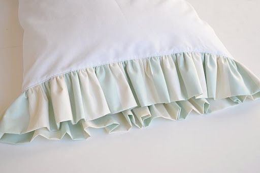 ruffled pillowcase tutorial would be pretty in a guest room too