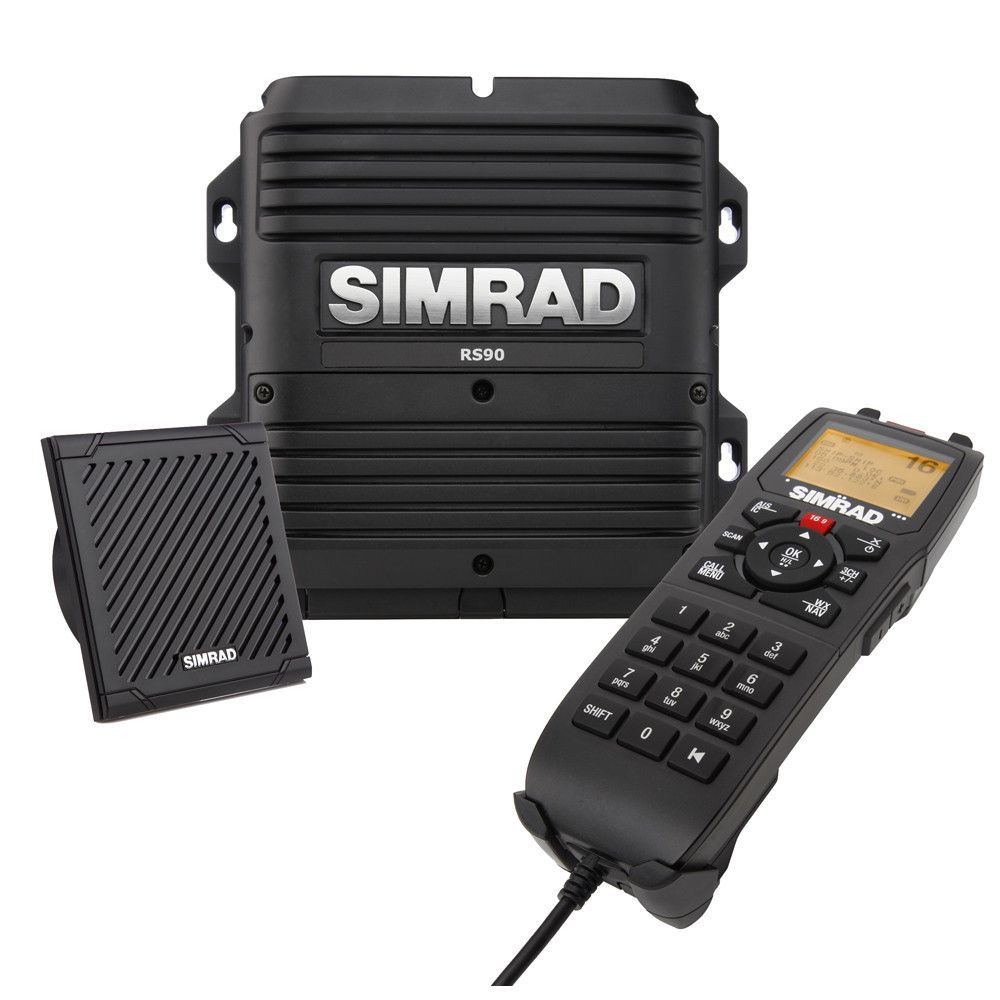 RS90 VHF Radio Stay connected with the Simrad RS90 VHF