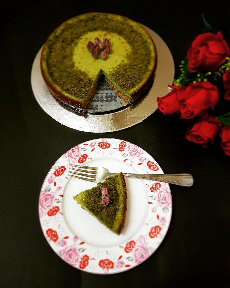 Pistachio Cheesecake تشيز كيك الفستق تشيز البستاشيو Cake