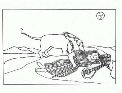 henri rousseau coloring pages - rousseau sleeping gypsy coloring pages for the budding