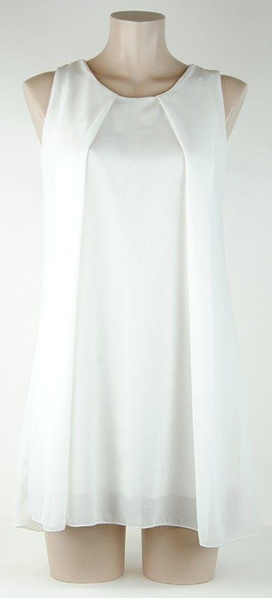 Robe blanche uni