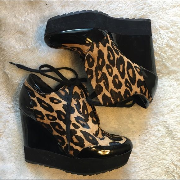 980380e3bc6e BRAND NEW Leopard Print Wedge Sneakers NEVER BEEN WORN wedge sneakers by  Boutique 9 (Nine