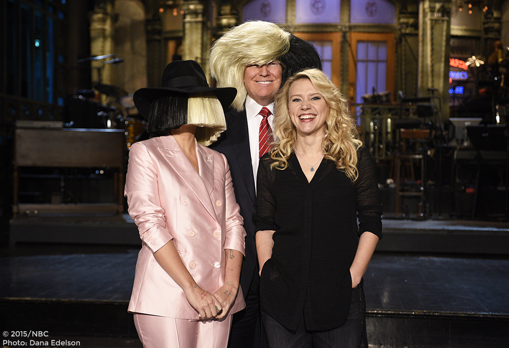 One more day! Donald Trump hosts #SNL with Sia tomorrow.