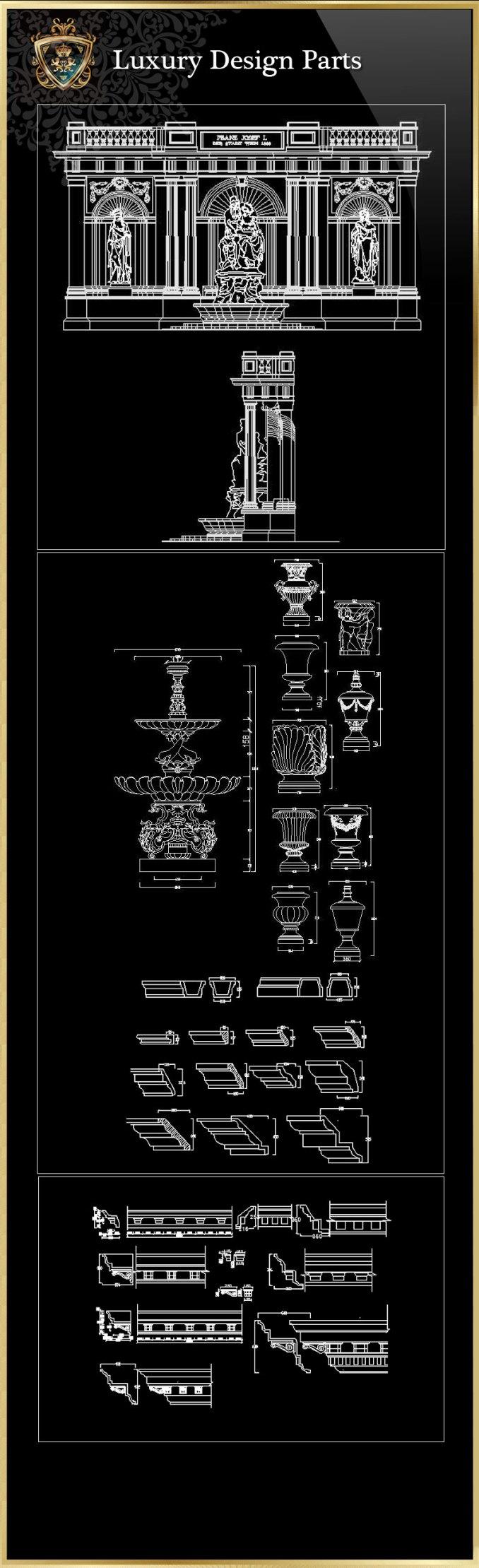 Luxus Design Teile 2 | FREE CAD BLOCKS & ZEICHNUNGEN DOWNLOAD CENTER