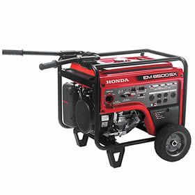 Honda Em6500sx 5500 Watt Electric Start Portable Generator Carb Honda Generator Portable Generator Gas Generator