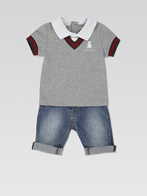 7b0b428c3de I need a baby boy! How adorable is this gucci ! Gucci Baby Clothes